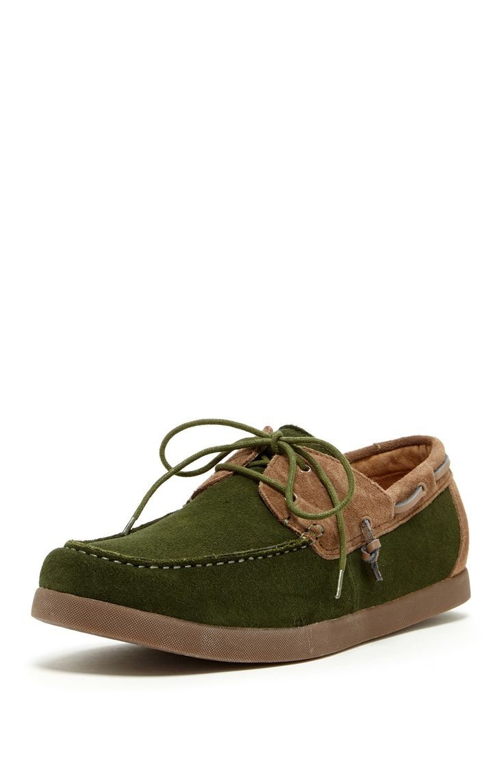 Boyd II Lace-Up Colorblock Boat Moccasin...