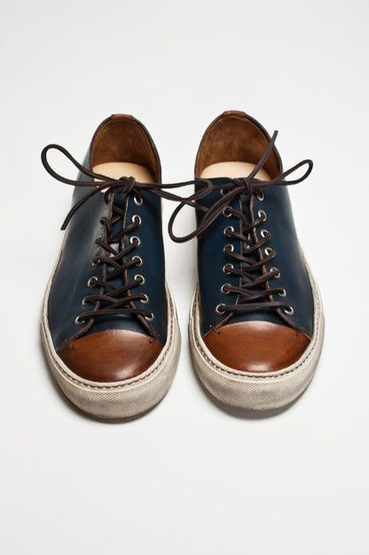 Buttero - Tanino Low Leather Two Tone | 350.00 from Très Bien