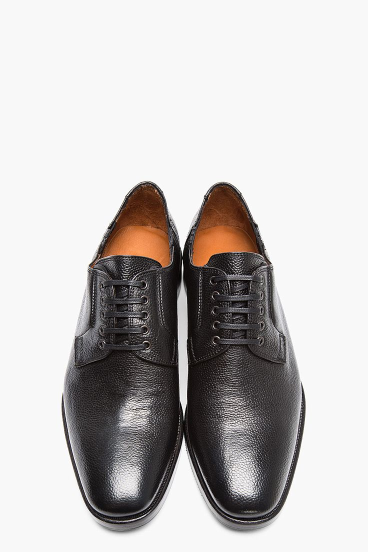 DSQUARED2 Black Scotchgrain Leather Chelsea Derbys