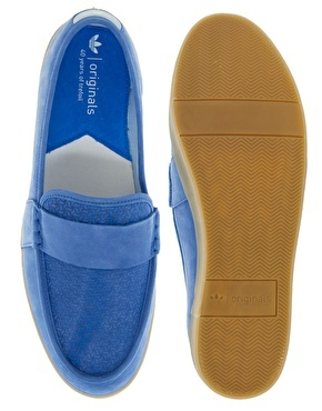 Enlarge Adidas Originals Blue Princetown Loafers