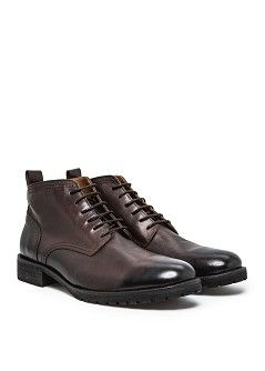 Lace-up leather ankle boots - Men