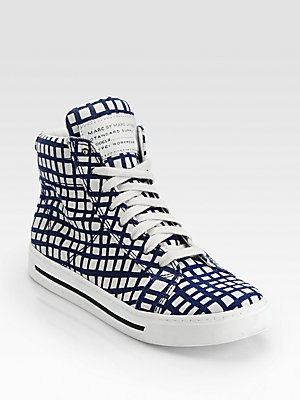 Marc by Marc Jacobs Mylo-Print Canvas High Top Sneakers
