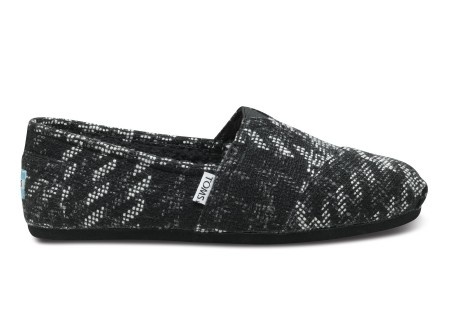 Men's Classics in black houndstooth by TOMS Shoes...