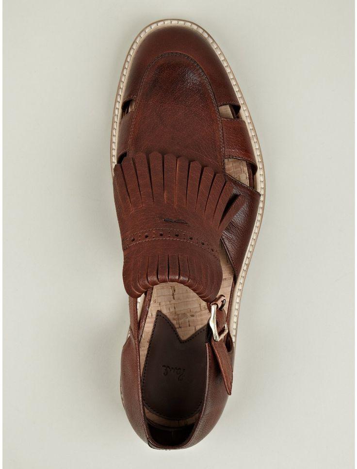 Paul Smith Men's Tan Armada Leather Sandal.