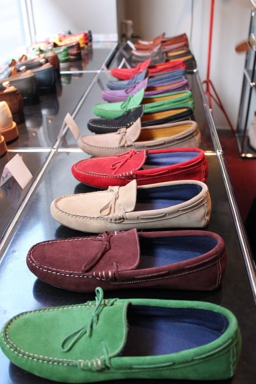 Rainbow of boat shoes
