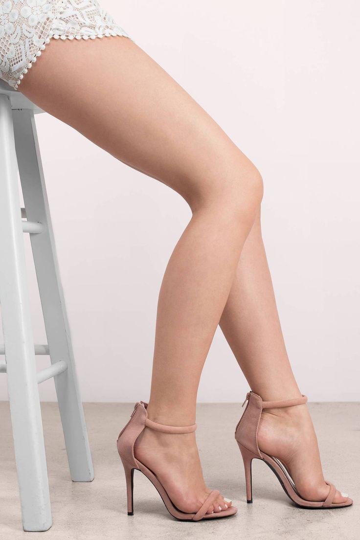 Search 'Ara Heels' on Tobi.com! simple plain basic classic blush mauve pink ankl...