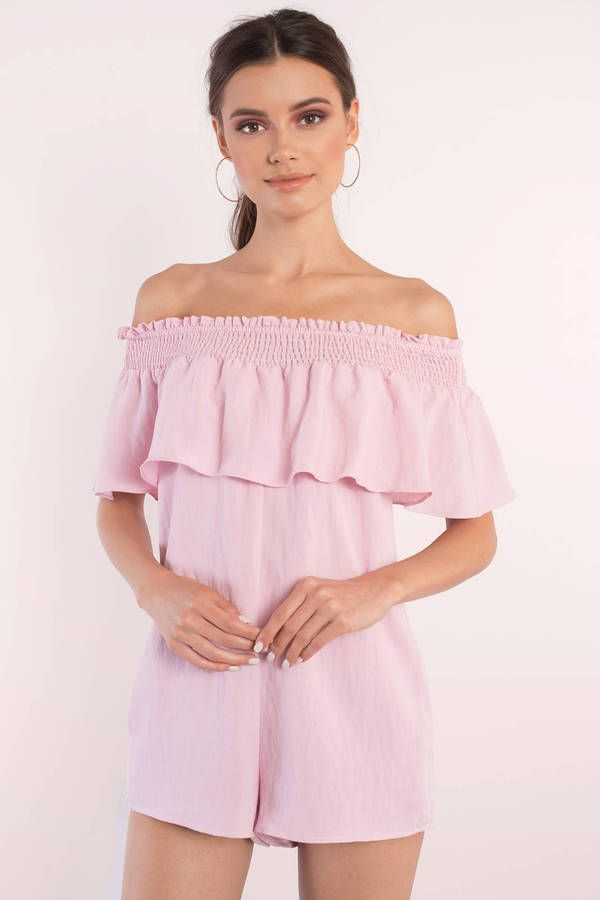Renna Ruffle Off Shoulder Romper