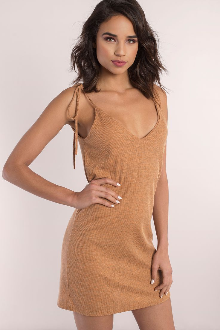 Trendy Ideas For Summer Outfits Search Quot Yana Mustard Ribbed Shift Dress Quot On Tobi Com Self Tie