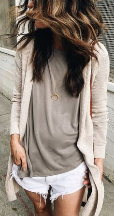#summer #outfits (Repost, Link Didn't Work) Neutral Basics For A Lunch Date With...