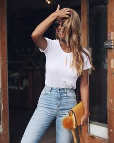 tee + jeans...