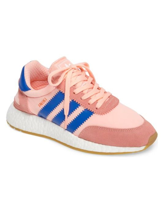 Adidas Running Shoe, Blue and Pink...