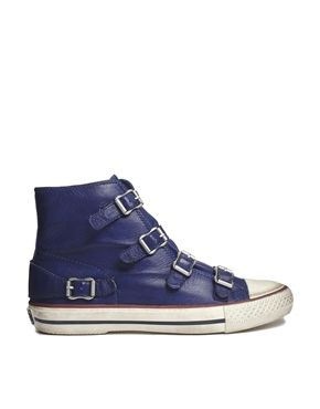 Ash Virgin Blue Buckle Hi Top Sneakers