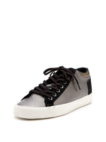 Etta Snake Embossed Leather Sneaker | Luxury Rebel...