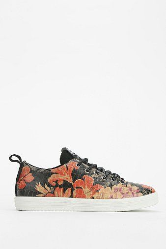 Gourmet Uno Floral Leather Sneaker