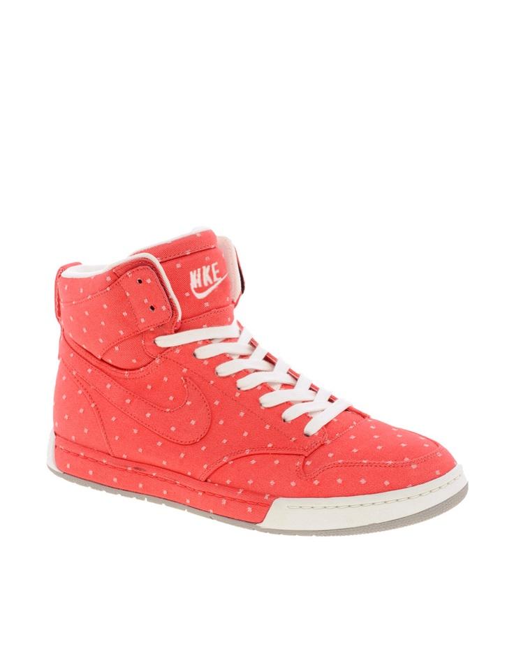 Nike Air Royalty Hi Top Orange Sneakers