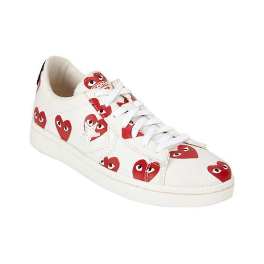 Play By Comme des Garçons heart-print low-top sneakers