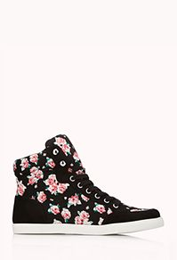 Pretty-Tough Floral High-Top