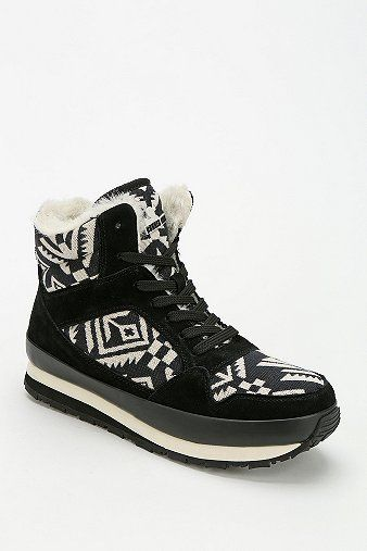 Rubber Duck Geo-Print Lace-Up Platform Sneaker-Boot