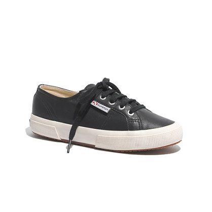 Superga x Madewell 2095 Leather Sneakers in Navy