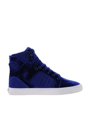 Supra Skytop Blue Velvet High Top Sneakers