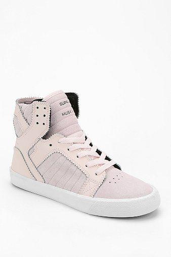SUPRA SkyTop Pink Suede High-Top Sneaker