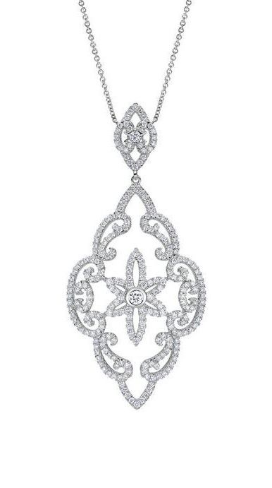 18k White Gold Allure Fashion Necklace...