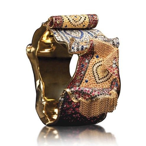 A multi gem Kilim bangle, by Andre Marcha. Andre Marcha #kilimstyle #finejewelry...