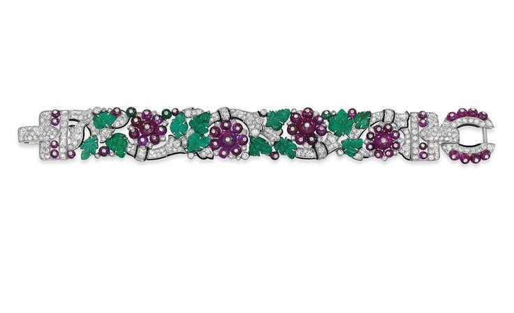 A rare CARTIER tutti frutti bracelet