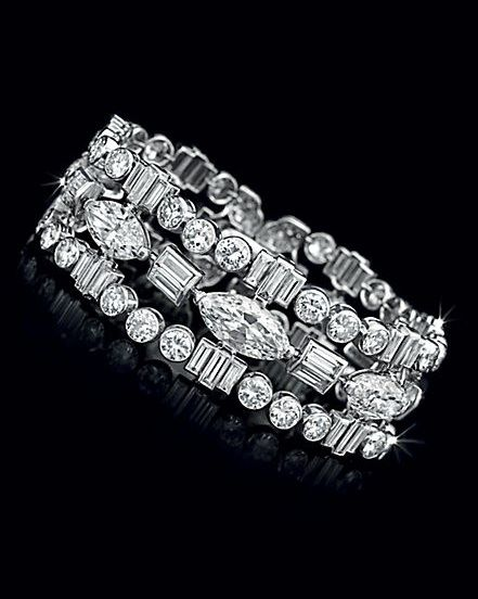 An Art Deco Diamond Bracelet, by Cartier