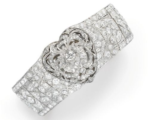 Art Deco Diamond Bracelet c.1920 Christie's...
