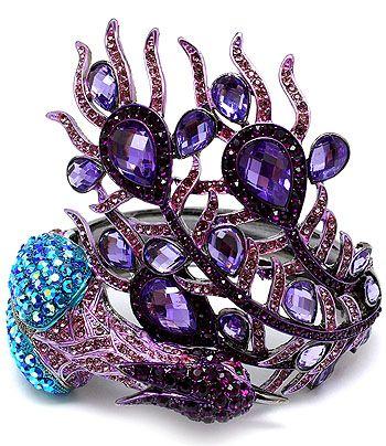 Crystal Purple Peacock Bracelet...