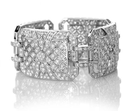 Gayubo #diamond link bracelet #artdeco...