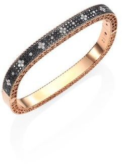 Roberto Coin Princess Diamond & 18K Rose Gold Bang…