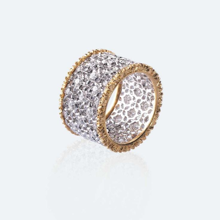 Scacchi White and yellow gold with diamonds Materials: White Gold, Yellow Gold, ...