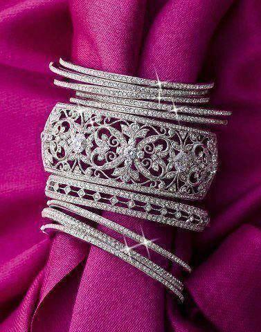 Sparkle diamond bracelets