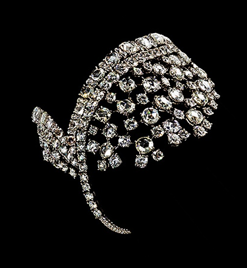 White diamond hand bracelet by David Morris