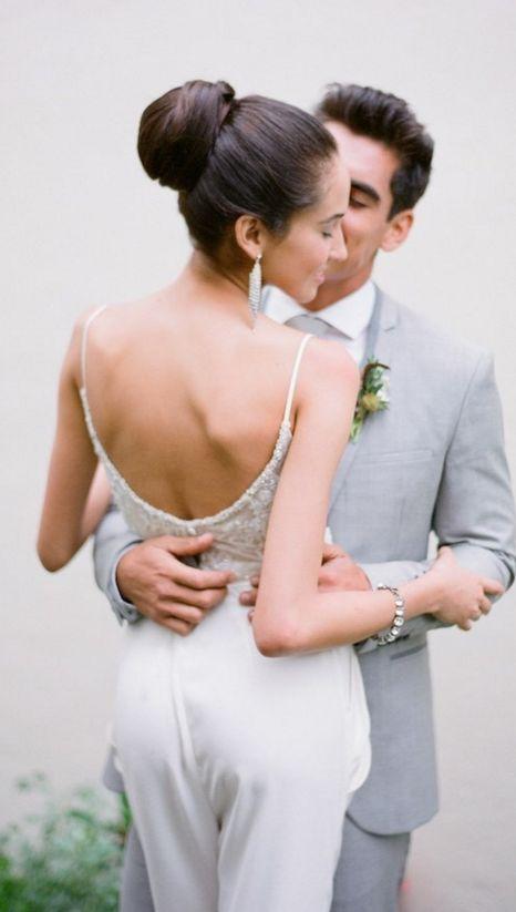 Classy updo wedding hairstyle idea; photo: Jose Villa...
