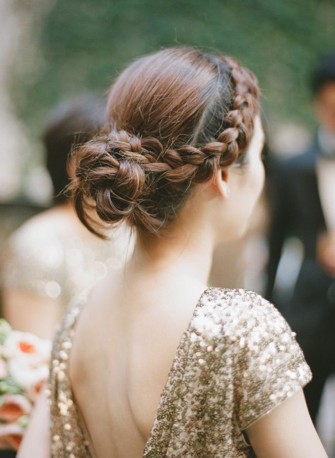 Featured Photographer: Rebecca Yale Photography; Wedding hairstyle idea.