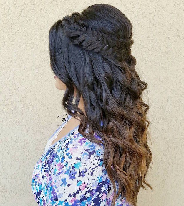 FIshtail Crown | 12 Curly Homecoming Hairstyles You Can Show Off