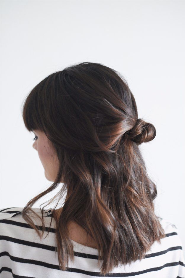 Half Up Knot | Easy Hairstyles For Black Friday Morning Shopping You Can Wear