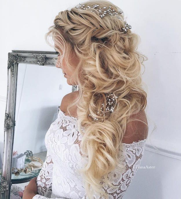 Twisted Crown Half-Updo   12 Curly Homecoming Hairstyles You Can Show Off...