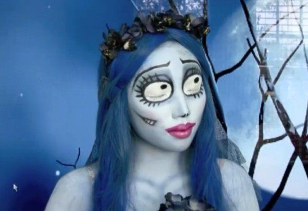 4. Emily (The Corpse Bride)   10 DIY Movie-Inspired Makeup Tutorials for Hallowe...