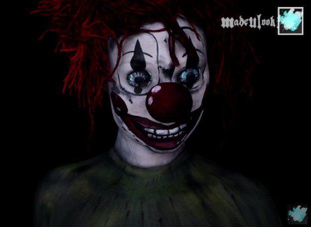 6. Clown (The Poltergeist) | 10 DIY Movie-Inspired Makeup Tutorials for Hallowee...