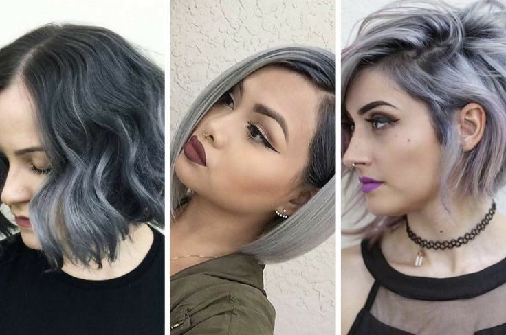 Beautiful Silver Ombre Hairstyles For Short Hair...