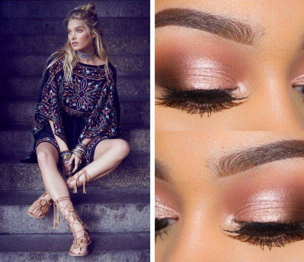 Festive in Rose Gold Eyes | Exciting Summer Outfits To Go Well With Your Makeup ...