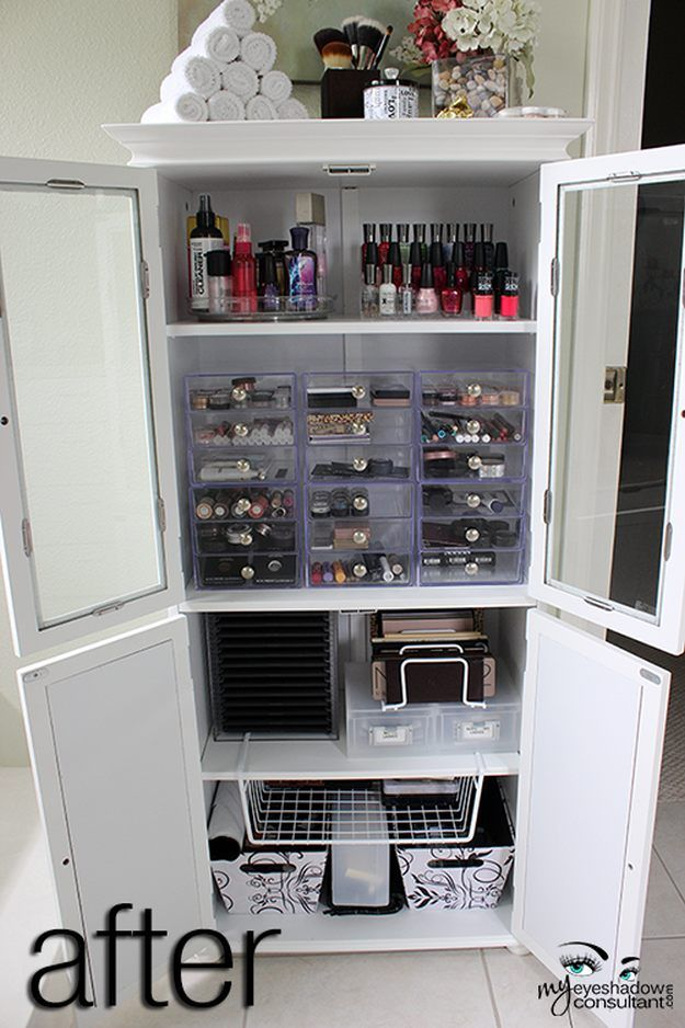 Medicine Cabinet | 17 Makeup Storage Ideas You'll Surely Love | Creative and C...
