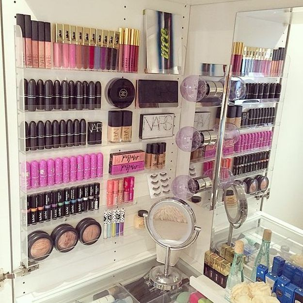 Nail Polish Rack | Makeup Storage | DIY Makeup Organizer...