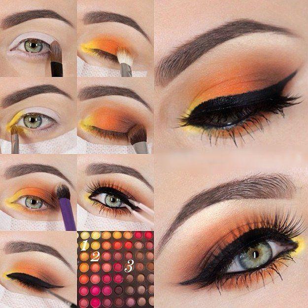 Orange Eyeshadow | Colorful Eyeshadow Tutorials | Makeup Tutorials...