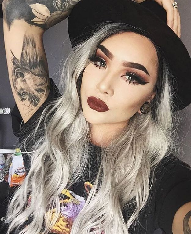Platinum Blonde   Grunge Makeup Is Making A Comeback! Try These Updated Looks No...