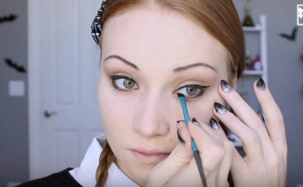 Step 5: Apply Black Eyeshadow On The Lower Lash Line | Wednesday Addams | Hallow...